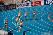Travel photography:The first 400m Women´s	Semi-final, Spain