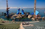 Travel photography:Bregenz Seebühne (stage in the lake), Austria