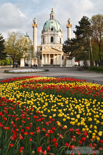 The Karlskirche with gardens