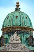 Travel photography:Cupola over the northern Entrance to the Vienna Hofburg, Austria
