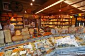 Travel photography:Vienna Naschmarkt cheese shop , Austria