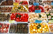 Travel photography:Vienna Naschmarkt delicatessen , Austria