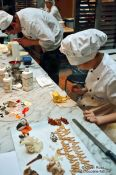 Travel photography:Making cake decorations at the Demel café house in Vienna, Austria