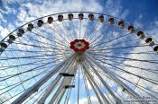 Travel photography:Modern ferris wheel at Vienna´s Prater, Austria
