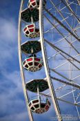 Travel photography:Gondolas of the new ferris wheel at Vienna´s  Prater, Austria