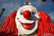 Travel photography:Giant clown at Vienna´s Prater fun fair, Austria