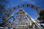 Travel photography:Old iron ferris wheel from 1897 at Vienna´s Prater, Austria