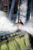 Travel photography:Donau jump Vienna Prater water slide , Austria