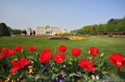 Travel photography:Belvedere palace with gardens, Austria