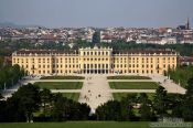 Travel photography:Panoramic view of Schönbrunn palace and gardens, Austria