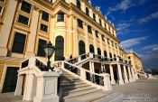 Travel photography:Schönbrunn palace facade, Austria