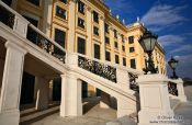 Travel photography:Staircase at Schönbrunn palace , Austria