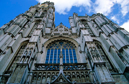 Antwerp cathedral facade