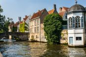 Travel photography:The Groenerei canal in Bruges, Belgium