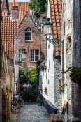 Travel photography:Back alley in Bruges, Belgium