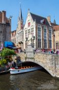 Travel photography:Bridge across a canal in Bruges, Belgium