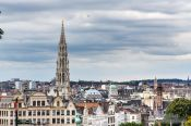 Travel photography:View of Brussels cathedral, Belgium