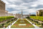 Travel photography:View of Brussels from the Mont des Arts, Belgium