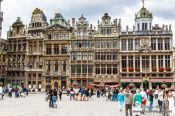Travel photography:Houses on Brussels main square (Grote Markt), Belgium