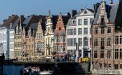 Travel photography:Ghent houses, Belgium