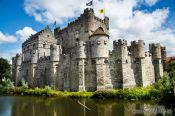 Travel photography:Ghent Gravensteen castle, Belgium