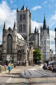 Travel photography:Ghent Saint Nicholas Church and Belfry, Belgium