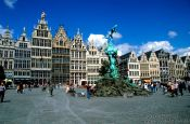 Travel photography:The Grote Markt (Main square) in Antwerp, Belgium