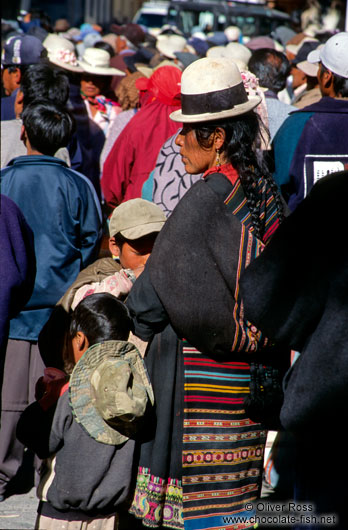Woman with children in Potosi