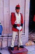 Travel photography:Guard outside the Bolivian Parliament in La Paz, Bolivia