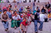 Travel photography:People at a demonstration in La Paz, Bolivia