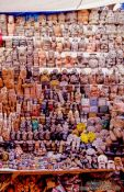 Travel photography:Row of talismans at the Casa Esoterico, La Paz, Bolivia