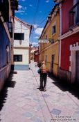 Travel photography:Street in Potosi, Bolivia