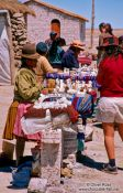 Travel photography:Tourists at souvenir stands, Bolivia