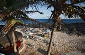 Travel photography:A barraca on a city beach in Salvador de Bahia, Brazil
