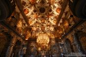 Travel photography:Inside the golden Igreja de São Francisco in Salvador, Brazil