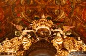 Travel photography:Altar detail inside the golden Igreja de São Francisco in Salvador, Brazil