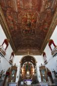 Travel photography:Inside the former slave church Igreja do Rosário dos Pretos in Salvador, Brazil