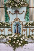 Travel photography:Valença church altar with black Madonna , Brazil