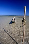 Travel photography:Wooden boat on Boipeba Island beach, Brazil
