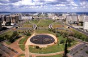 Travel photography:The Eixo Monumental in Brasilia (View from the Television Tower), Brazil