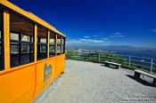 Travel photography:Old style gondola atop the Sugar Loaf (Pão de Açúcar), Brazil