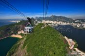 Travel photography:Gondola arriving on top of the Sugar Loaf (Pão de Açúcar), Brazil