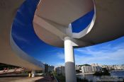 Travel photography:The ramp leading to the Museum of Contemporary Art in Niterói, Brasil