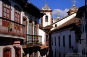 Travel photography:Narrow street in Ouro Preto, Brazil