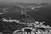 Travel photography:View of the Sugar Loaf (Pão de Açúcar) from the Corcovado in Rio de Janeiro, Brazil