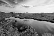 Travel photography:View of the Lac Monroe in Quebec´s Mont Tremblant National Park, Canada