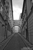 Travel photography:Alley in the Lesser Quarter, Czech Republic
