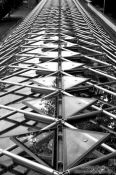 Travel photography:Roof structure on the plant nursery of the Royal Gardens, Czech Republic