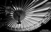 Travel photography:Roof structure at the Berlin Sony Centre on Potsdamer Platz, Germany