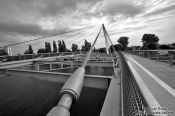 Travel photography:The Mimram Bridge at Kehl, Germany/France